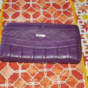 Via Roma purple wallet